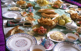 a central asian meal